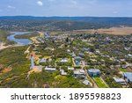 Panorama of Aireys inlet town in Australia