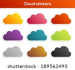 set of 9 colorful isolated...