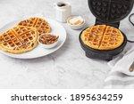 Homemade Pecan Waffles On A...