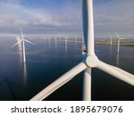 Offshore Windmill Park With...