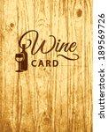 retro label for wine list menu... | Shutterstock .eps vector #189569726