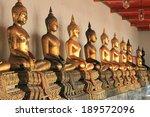 buddha statue in wat pho...   Shutterstock . vector #189572096