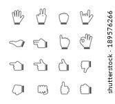 hands icons | Shutterstock .eps vector #189576266