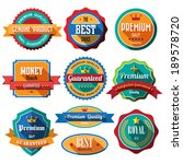 set of retro vintage badges and ... | Shutterstock .eps vector #189578720