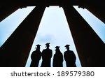outlines of four graduates... | Shutterstock . vector #189579380
