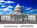 Stock photo washington dc us capitol building in a summer day 189582890