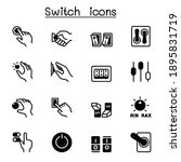 switch icons set vector... | Shutterstock .eps vector #1895831719
