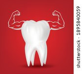 strong muscle healthy tooth...   Shutterstock .eps vector #1895840059