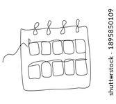 continuous line calendar... | Shutterstock .eps vector #1895850109