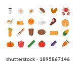 food menu cake meat icon s | Shutterstock .eps vector #1895867146