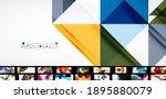 geometric minimal abstract... | Shutterstock .eps vector #1895880079