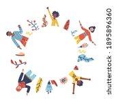 group of people  men and women... | Shutterstock .eps vector #1895896360