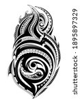 tribal tattoo with ethnic... | Shutterstock . vector #1895897329