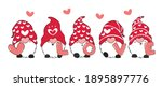 valentine gnome with love...   Shutterstock .eps vector #1895897776