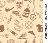 seamless pattern with pirate... | Shutterstock . vector #1895908366