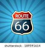 route 66 sign  | Shutterstock .eps vector #189591614
