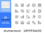 line icons about health... | Shutterstock .eps vector #1895936650
