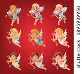 set of cartoon angels icons for ... | Shutterstock .eps vector #1895939950
