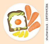plate of delicious fresh...   Shutterstock .eps vector #1895949286