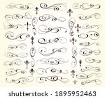 set of calligraphic decorative... | Shutterstock .eps vector #1895952463