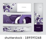 set of banners. abstract vector ... | Shutterstock .eps vector #189595268
