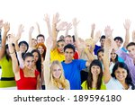 group of young people from... | Shutterstock . vector #189596180
