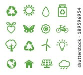 environment icons  ecology... | Shutterstock .eps vector #189596954