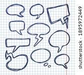 vector set of sketch hand drawn ... | Shutterstock .eps vector #1895972449