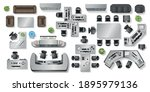 vector set. office furniture. ... | Shutterstock .eps vector #1895979136
