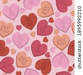 candy heart seamless pattern ... | Shutterstock .eps vector #1895992210