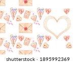watercolor postcard  invitation ...   Shutterstock . vector #1895992369