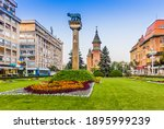 Timisoara, Romania. The historic centre of Timisoara, with the Metropolitan Cathedral.