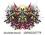 abstract scary butterfly wings... | Shutterstock .eps vector #1896020779