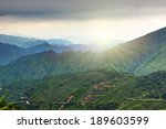 chinese agricultural terraces... | Shutterstock . vector #189603599