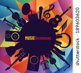 colorful music background. | Shutterstock .eps vector #189603620