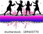 group of children | Shutterstock .eps vector #189603770