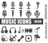 Music Icons Set On White...