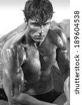 very muscular handsome sexy guy  | Shutterstock . vector #189604538