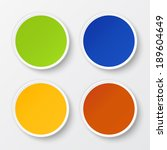 set of blank stickers.... | Shutterstock .eps vector #189604649