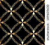 vector vintage gold luxury... | Shutterstock .eps vector #189605630