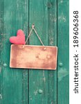 Love Heart  Sign Board On...