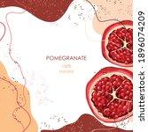 half a ripe pomegranate....   Shutterstock .eps vector #1896074209