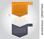 vector paper progress steps for ... | Shutterstock .eps vector #189607664