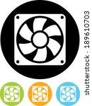 exhaust fan vector icon | Shutterstock .eps vector #189610703