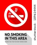 Label No Smoking Sticker  Flat...