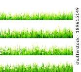 grass with little white daisy.... | Shutterstock .eps vector #189615149