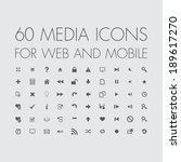 media icons set for web and... | Shutterstock .eps vector #189617270