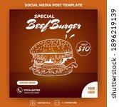 editable square banner template.... | Shutterstock .eps vector #1896219139