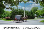 An Amish Horse And Buggy...