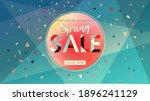 spring sale banner. trendy... | Shutterstock .eps vector #1896241129